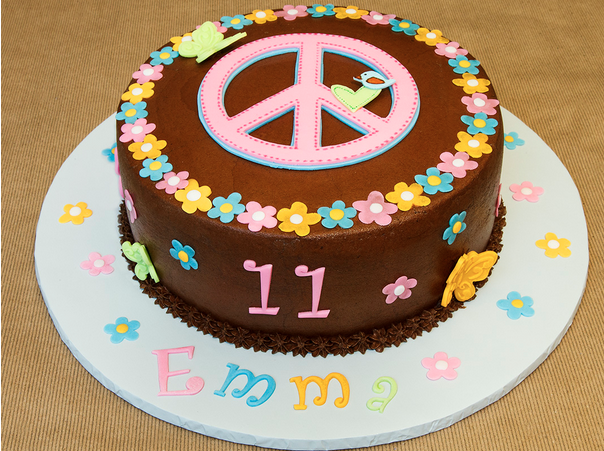 Phenomenal Peace Birthday Cake Birthday Cakes Pictures Of Peace Sign Personalised Birthday Cards Cominlily Jamesorg