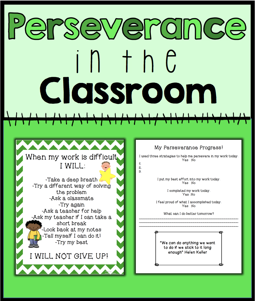 Perseverance in the Classroom | CounselorChelsey on TpT ...