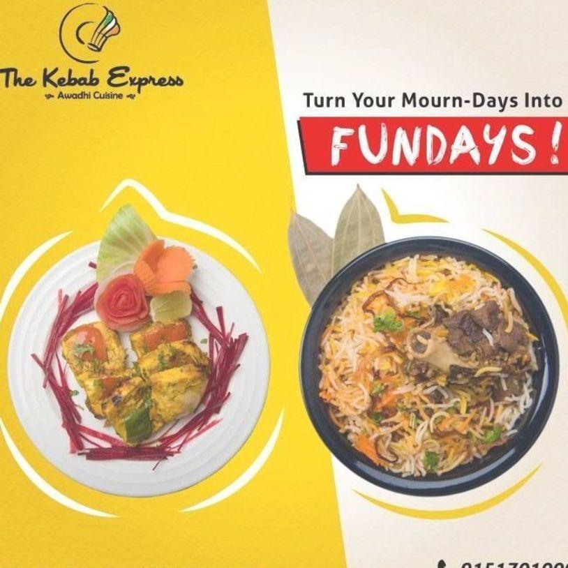 We Are Here To Turn Your Boring Mondays Into Delicious Fundays With Biryani And Kebabs Awadhi Mughlai Food Lucknow F Makanan Makanan Dan Minuman Resep