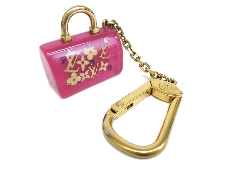 f9e8e5ad81d48 #LouisVuitton Porte Cles Speedy Key holder Inclusion Pink M65415(BF056746) # lv - Now $164