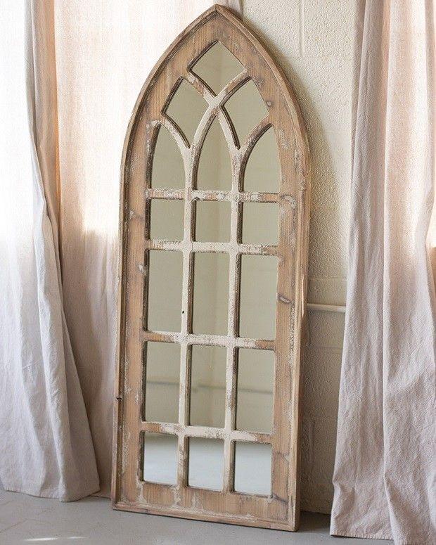 Church window mirror tall churches window and farm house for Window design mirror