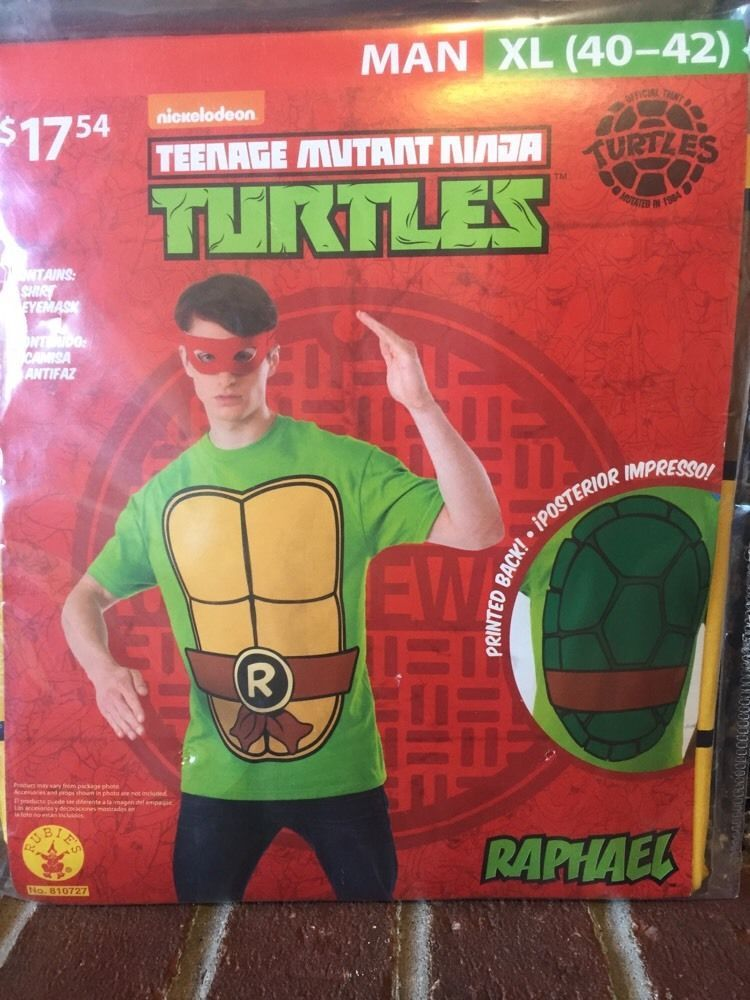 388e12c8 Raphael Mens Adult Costume Kit Size XL NEW Teenage Mutant Ninja Turtles 2  Piece #Rubies #TShirtEyemask
