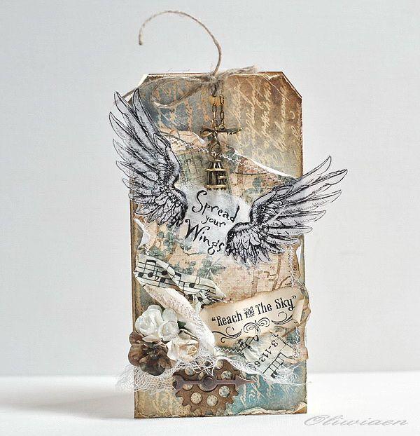 Winged Tag Card - Scrapbook.com
