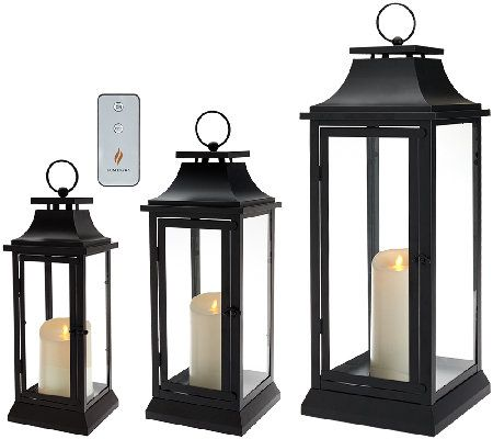 Luminara Heritage Indoor Outdoor Lantern With Flameless Candle Remote H205420 Outdoor Lanterns Candle Lanterns Luminara Lantern