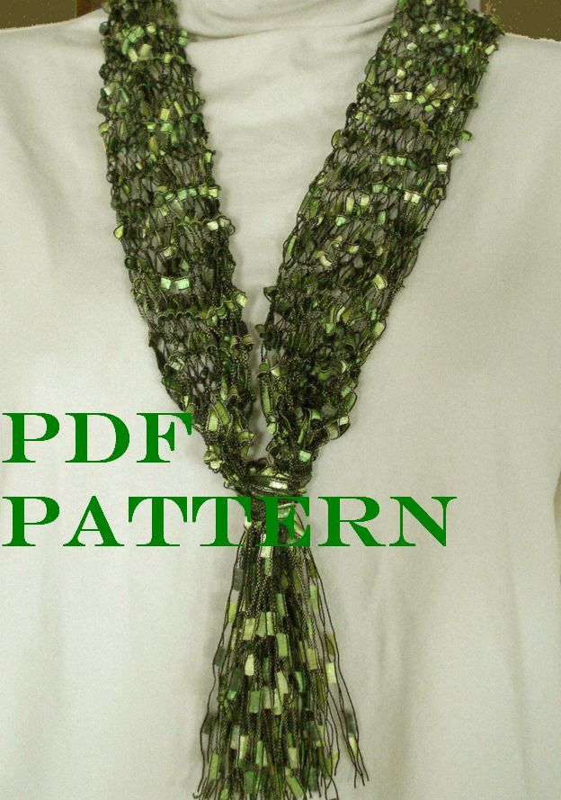 Image Result For Free Crochet Pattern Maxine Ladder Ribbon Scarf
