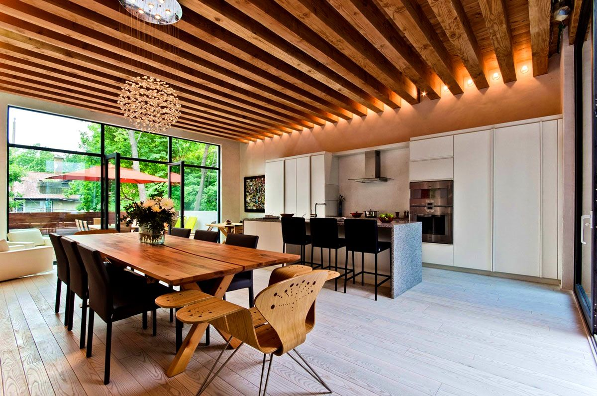 Interior:Exposed Beams In Ceiling Interior Design Idea Fascinating Home  Interior Design With Wooden Exposed