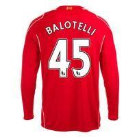2014-15 Liverpool Long Sleeve Home Shirt (balotelli 45)