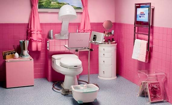 Charmant Cute Girl Bathrooms | Decorating Ideas For Barbie Themed Bathrooms Interior  Design