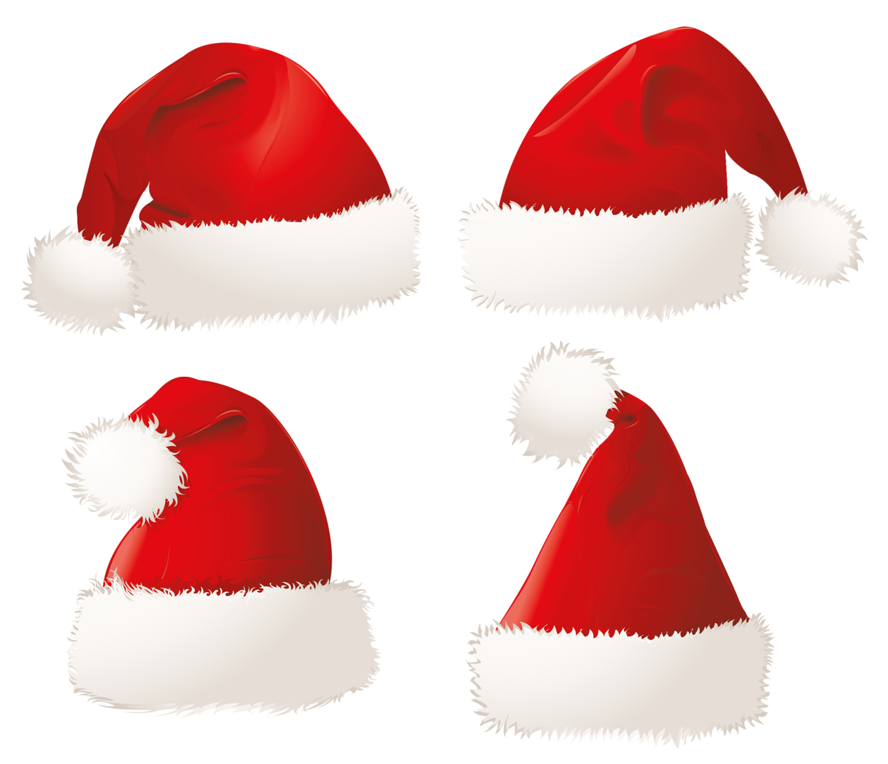 Christmas Santa Hats PNG Clipart Picture Christmas hat