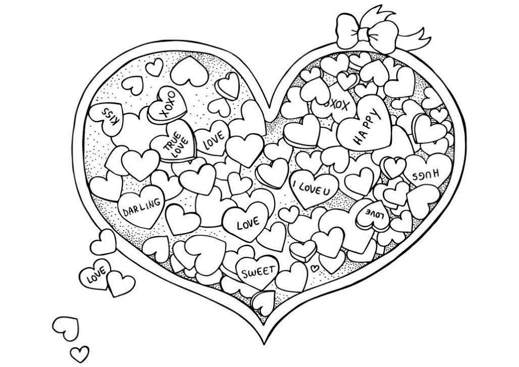 Valentines Day Coloring Pages For Adults Heart Coloring Pages