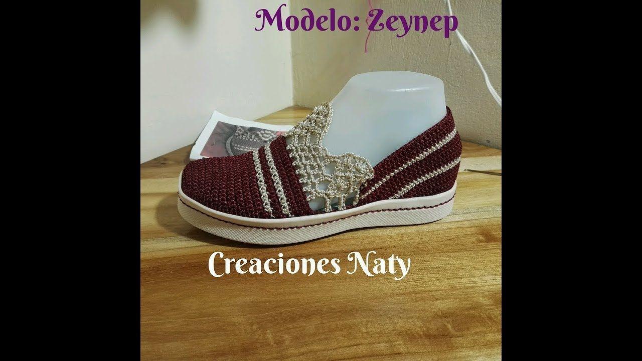 MODELO ZEYNEP PARA DAMA | CROCHET | Pinterest | Videos de zapatos ...