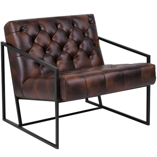Best Modern The Barracuda Cognac Tufted Lounge Chair In 2019 400 x 300
