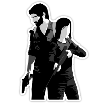 The Last Of Us Sticker By Outlineart In 2021 The Last Of Us Joel And Ellie Wall Art Canvas Prints