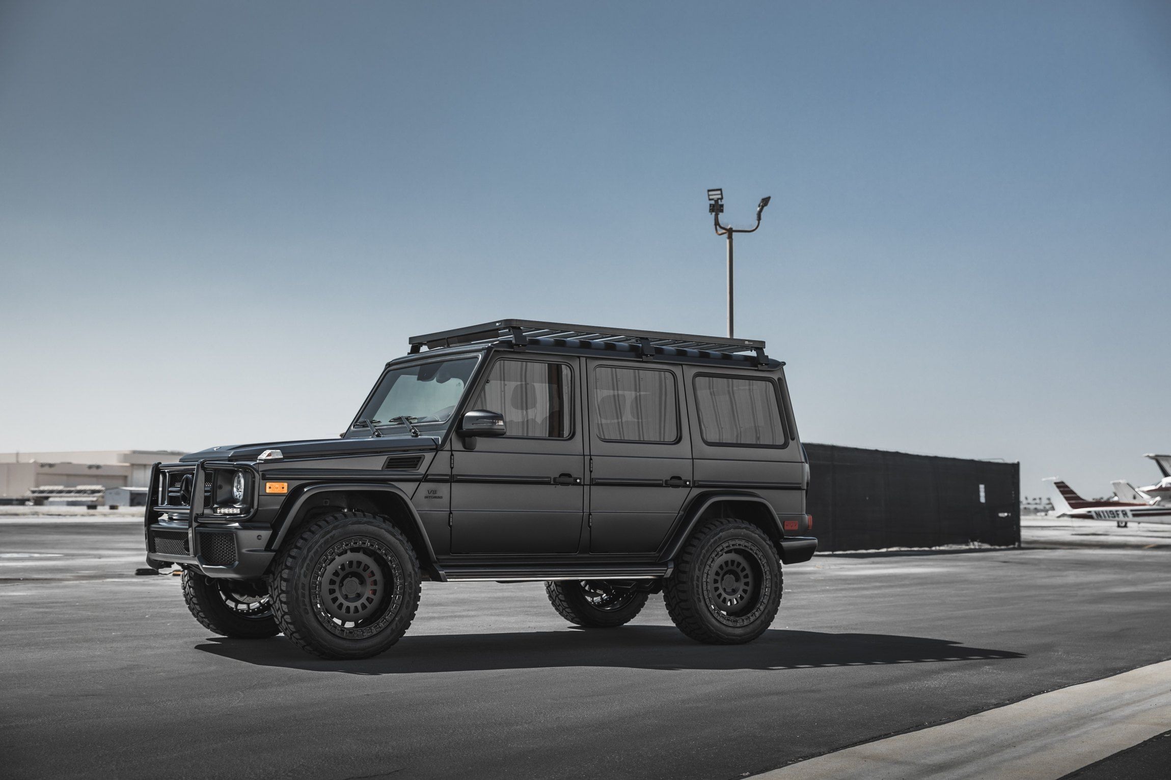 Off Road Mods And Rotiform Wheels On Black Mercedes G Wagon