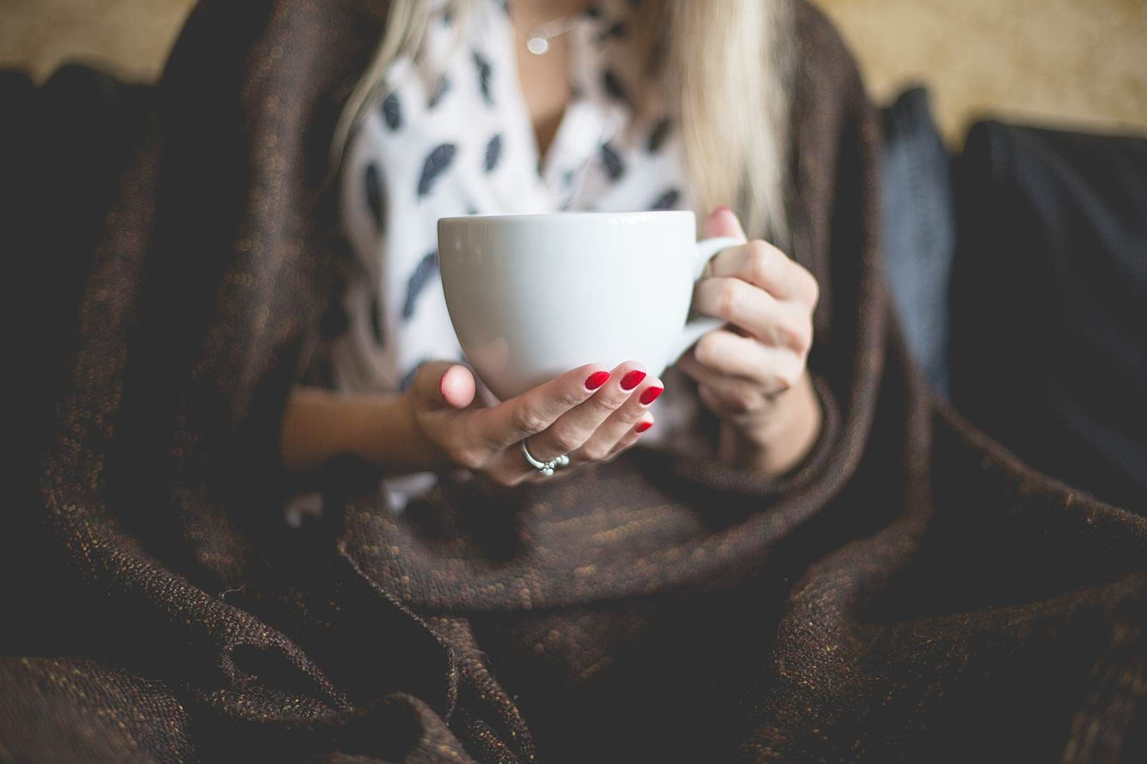 Woman with a Cup of Tea Free Image Download