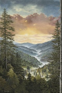 Teresa Pennington Blue Ridge Mountains Color Pencil Drawing Realistic Art Beautiful Art