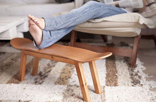 Reutilizar viejas tablas de skate como mobiliario, Skate-Home. // #skate #forniture #reuse