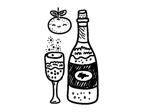 Dibujo De Copa De Cava De Fin De Ano Para Colorear Copa De Cava Fondo De Pantalla De Kpop Dibujos De Navidad