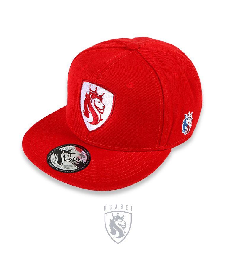 """OG Abel """"Shield Lion RED"""" Snap Back Hat"""