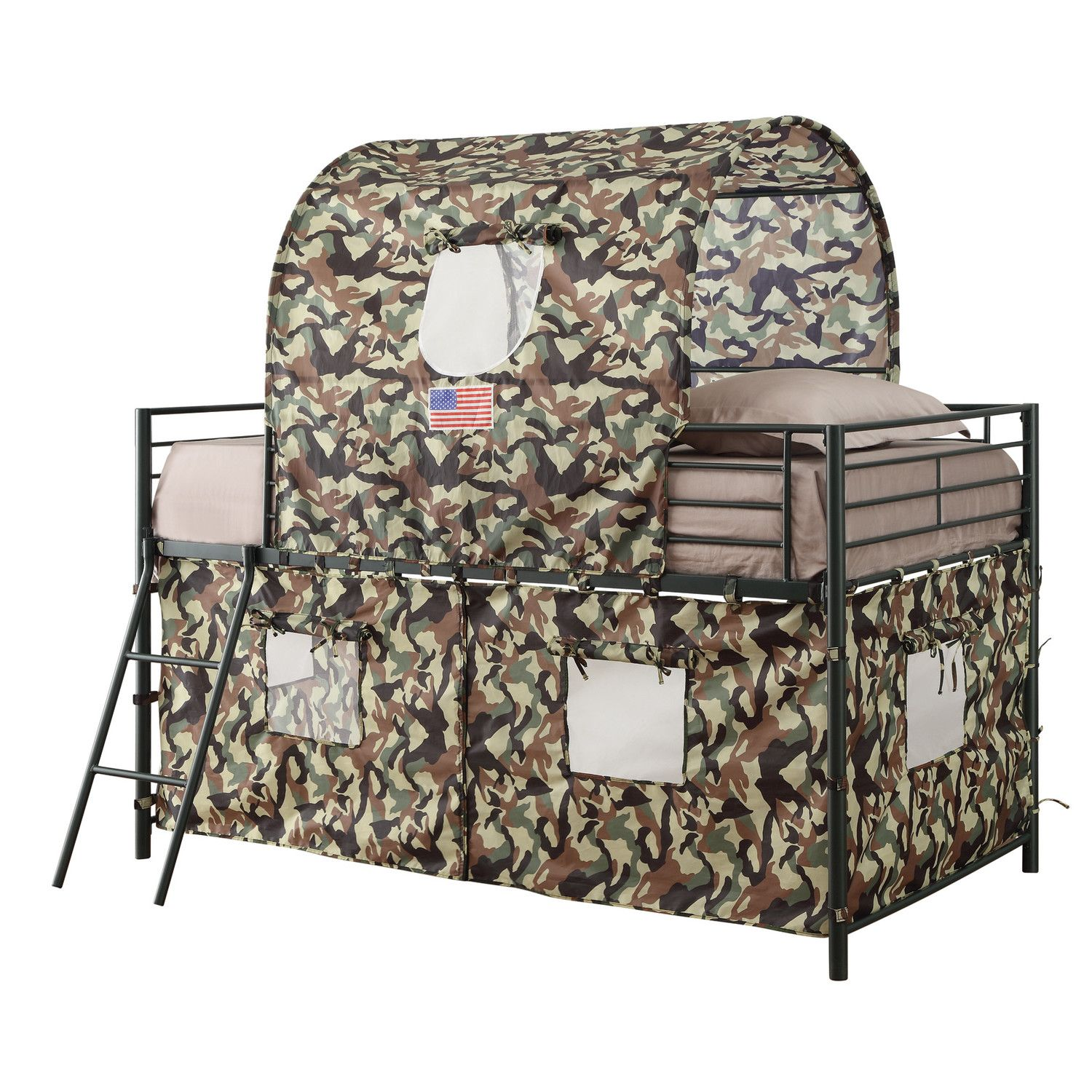 Kali Camouflage Tent Twin Bed Twin Loft Bed Low Loft Beds Bunk Beds With Stairs