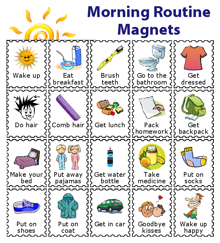 Make A Magnetic Checklist For Your Kids Kids Routine Chart Chore Chart Kids Kids Schedule