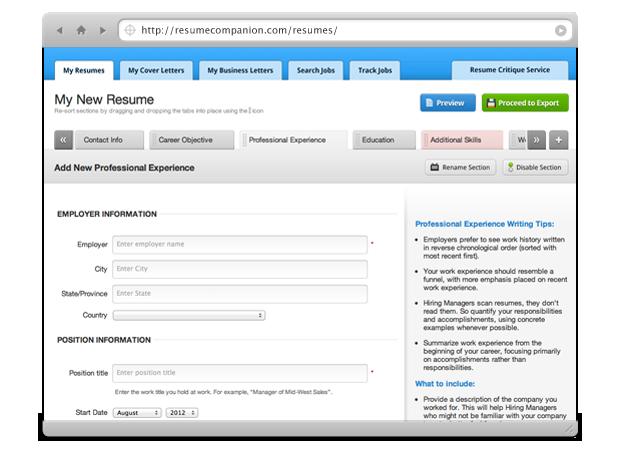 Free Online Resume Builder Free resume builder, Free