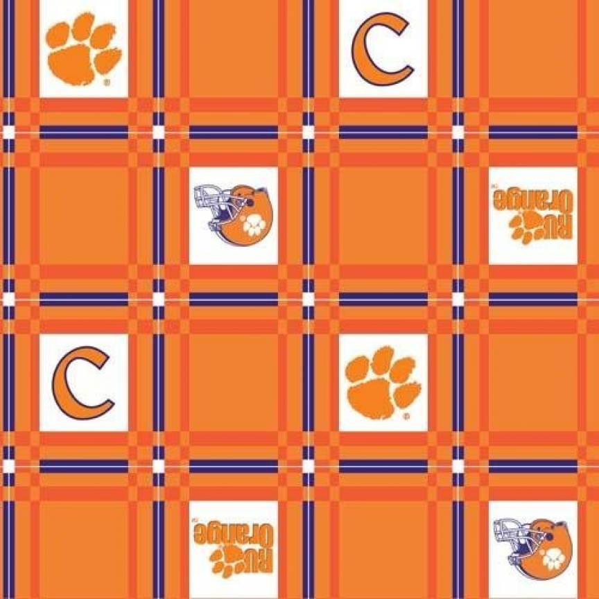 Good Tailgate Vinyl Tablecloth Clemson University Fabric By The Yard