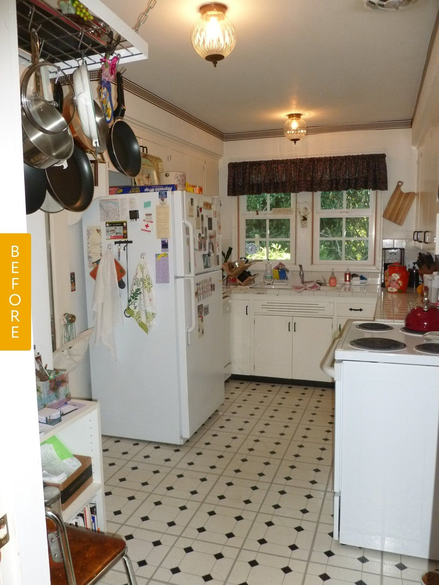Before After A 1940s Kitchen Gets An Era Appropriate Makeover Kitchen Remodel Small Kitchen Remodel Design 1940s Kitchen