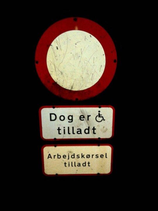 Funny Danish sign