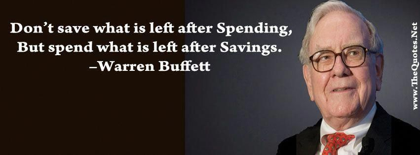 Warren Buffett Quotes about Savings #StockOptionTrading #tradinglifestyle #stockportfolio