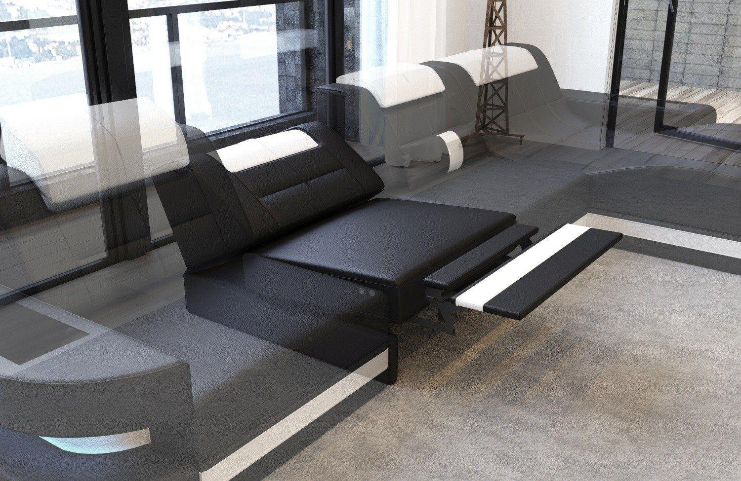 Design Sectional Sofa Hollywood U Shape With Led And Usb Sofa