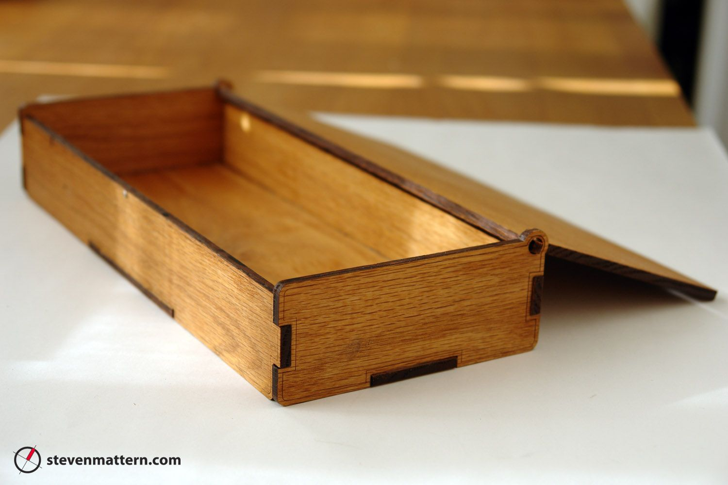 Fabbers interviews steven mattern let 39 s fab it laser for How to make a ring box out of wood