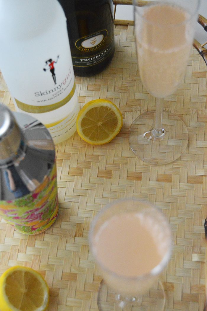 Leftover New Year's Prosecco? Make a Skinnygirl 75 Cocktail - DC Girl in Pearls
