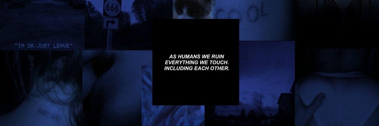 Header Grunge Blue Y Aesthetic In 2020 Twitter Header Aesthetic Pink Twitter Blue Aesthetic