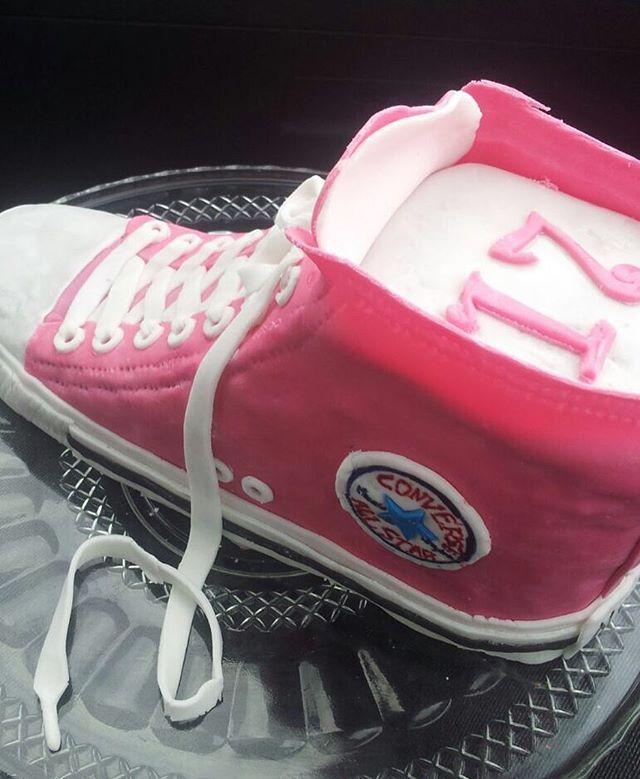 converse #chucks #motivtorte #fondant #pink #schuh #17