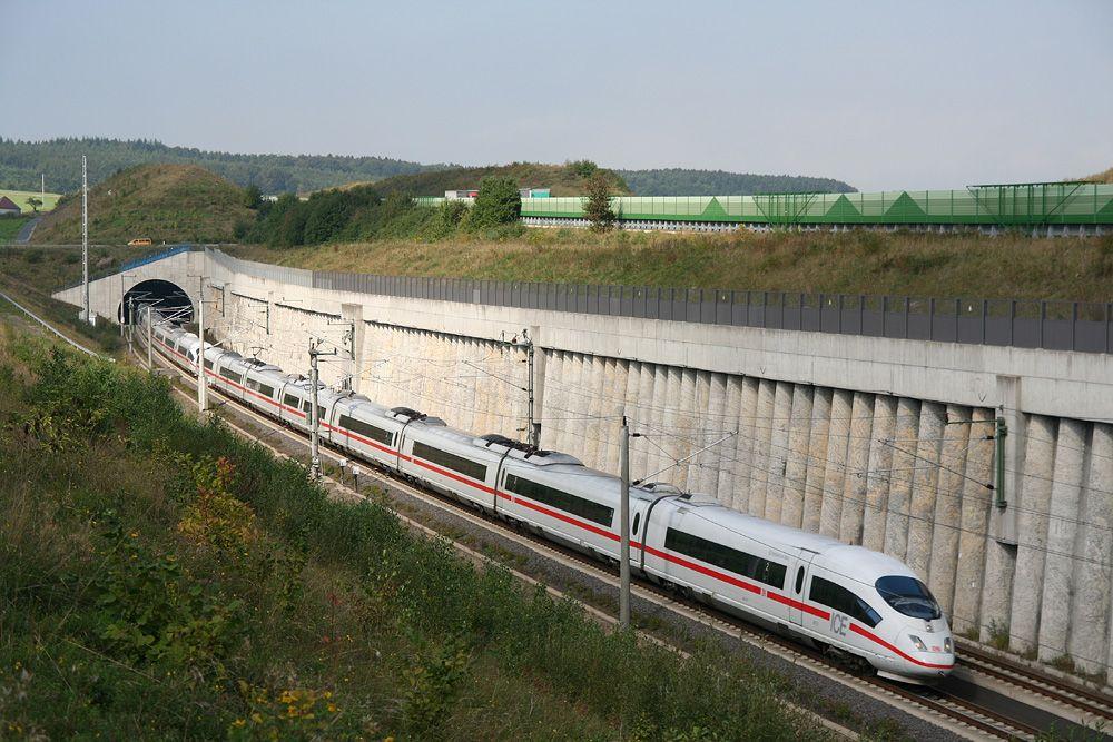 ICE3 near Montabaur on Frankfurt Cologne highspeed line