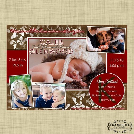 Holiday Family Photo Card and/or Holiday Christmas by CAMRYNJOLEE, $16.00