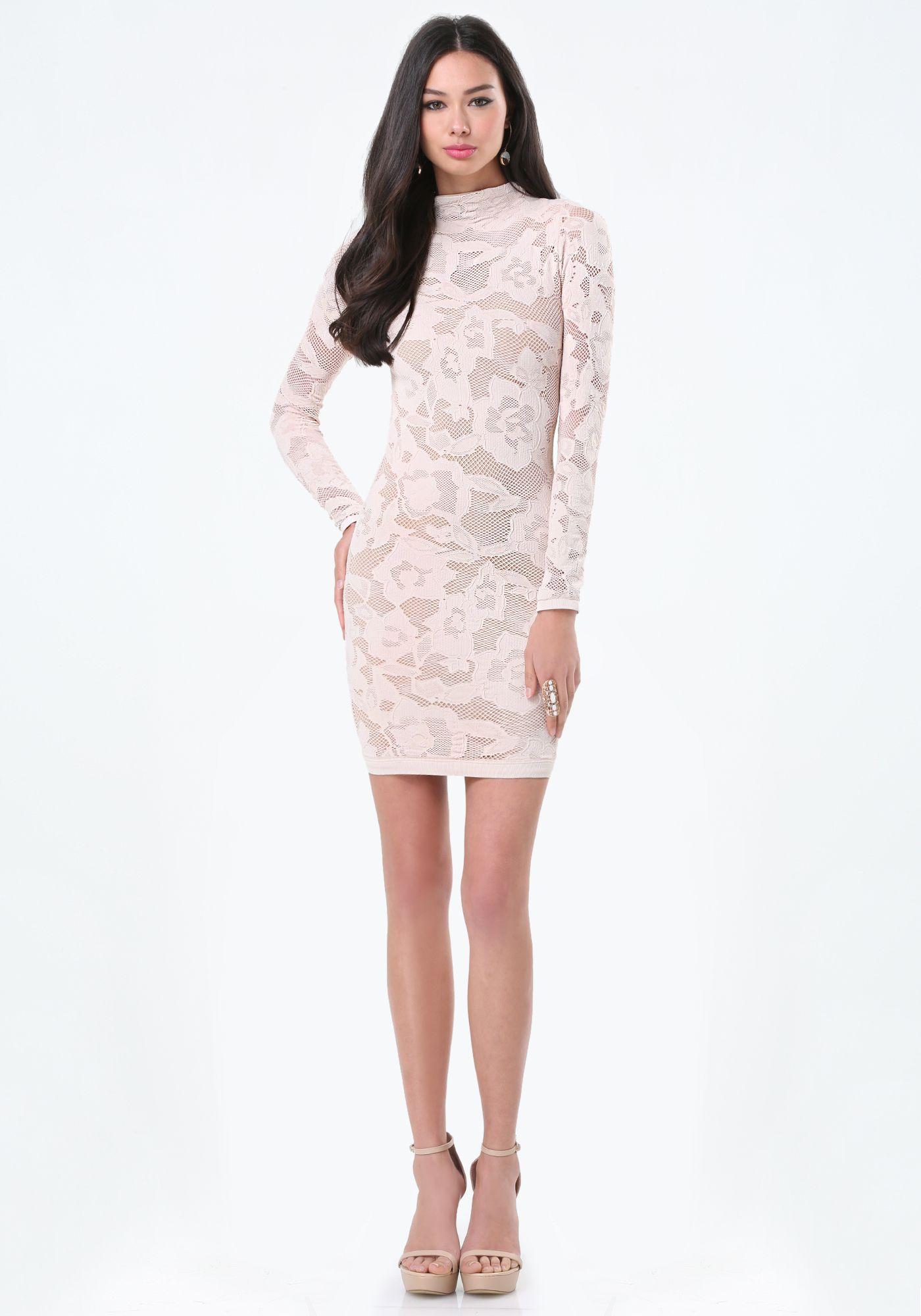 d291503db Bebe ---- Allover Lay Dress ---- Bridget Hollitt ---- 257921-ycy ----