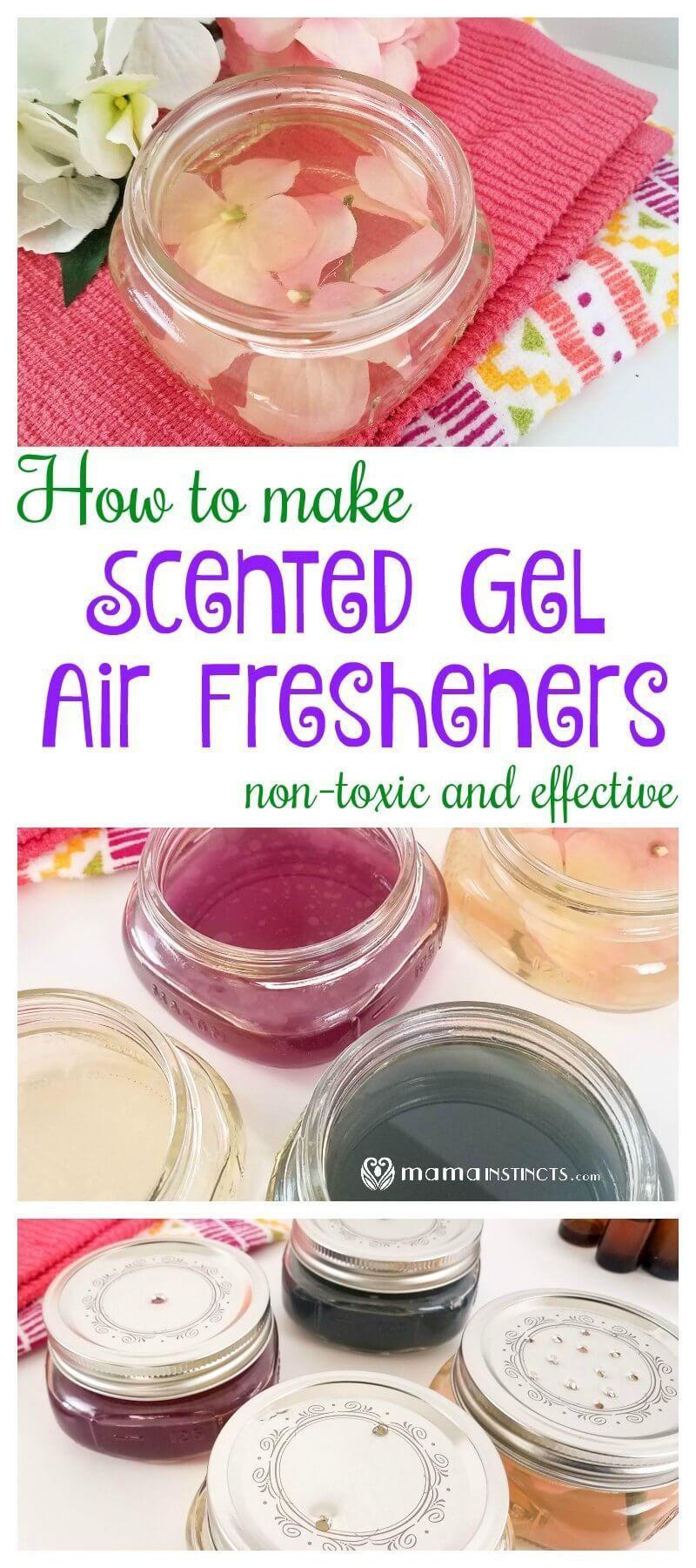 Scented Gel Air Fresheners Recipe Homemade air