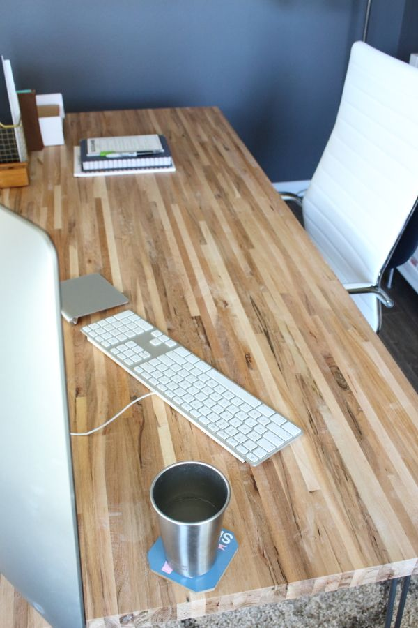 Diy Butcher Block Desk Home Ideas Pinterest Desk Butcher