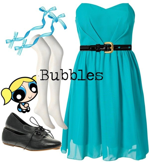 Bubbles (The Powerpuff Girls) Inspired Outfit  sc 1 st  Pinterest & Bubbles | Pinterest | Powerpuff girls Inspired outfits and Girls