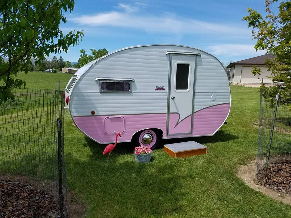 Fully Restored 1956 Siesta 12 Canned Ham Camper For Sale Www Facebook Com Bubblicious1956 Vintage Campers For Sale Vintage Camper Art Vintage Camper