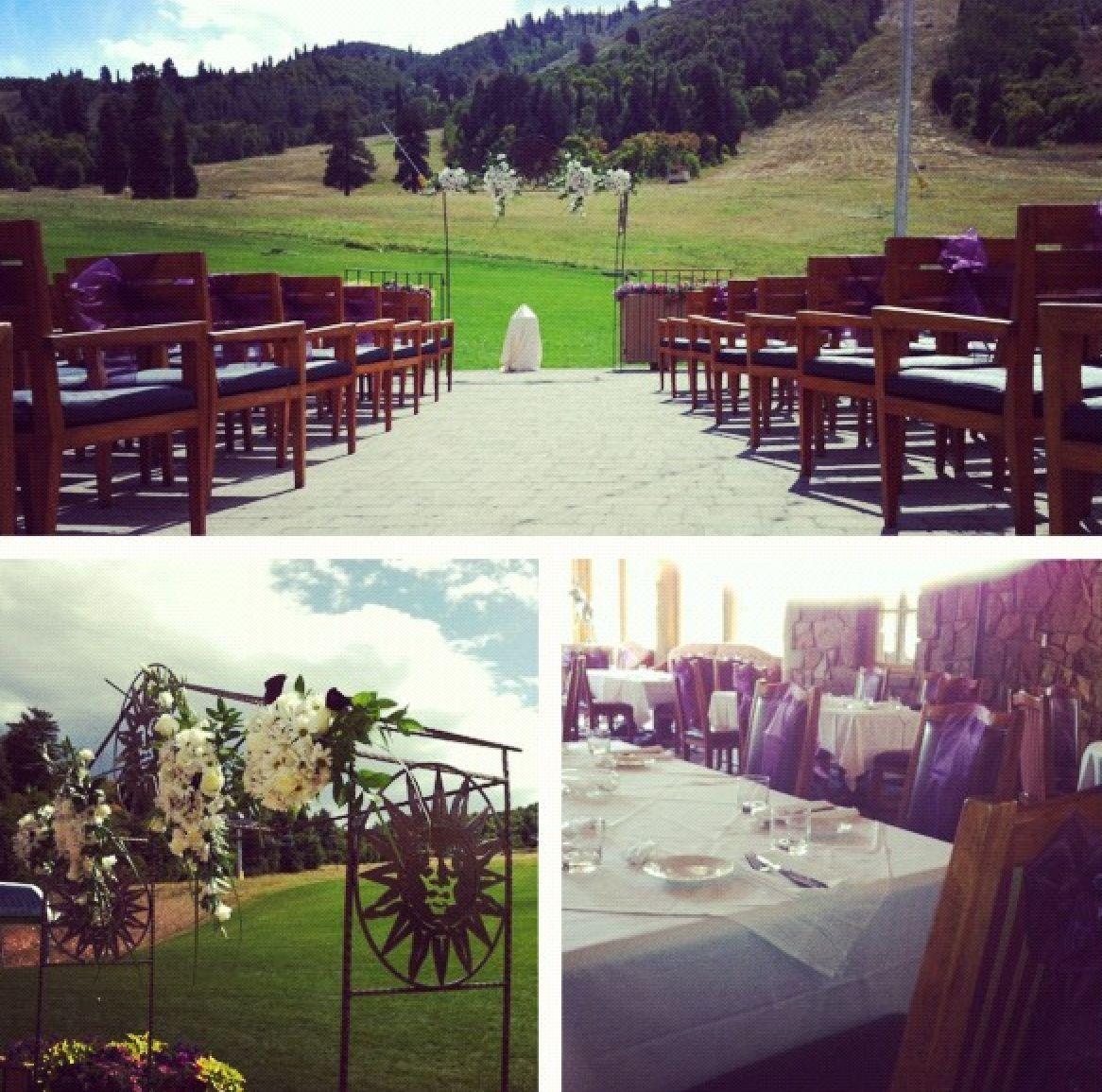 Wedding Set Up On Earls Patio.