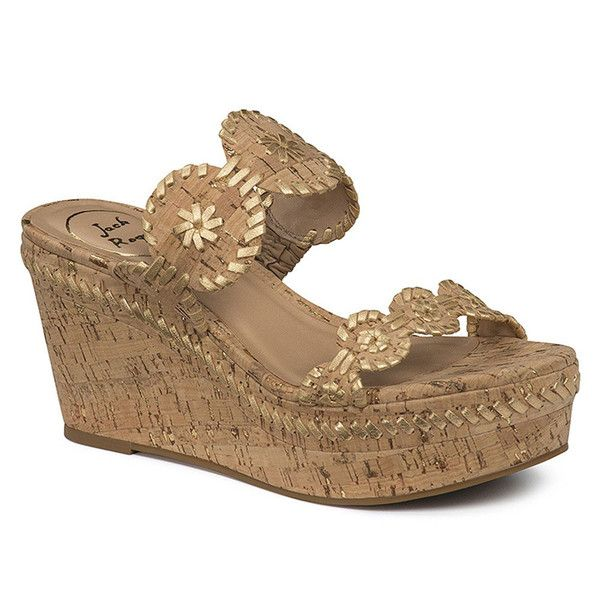 Leigh Wedge Sandal in Gold Fleck by Jack Rogers - FINAL SALE