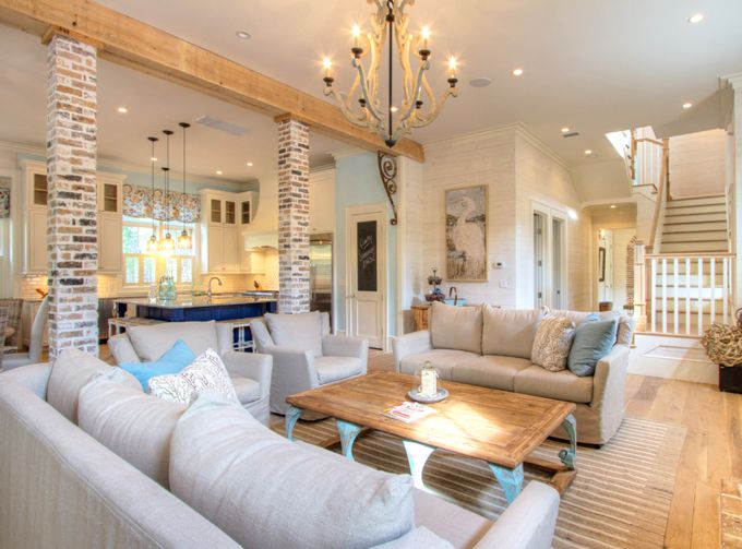 Borges brooks builders house of turquoise home decor - Columns in living room ideas ...