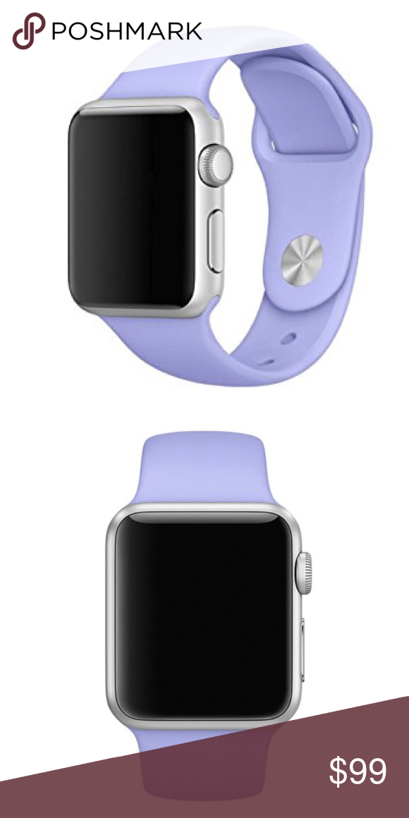 LAST ONE Lilac Silicone BAND for Apple Watch 38mm Boutique