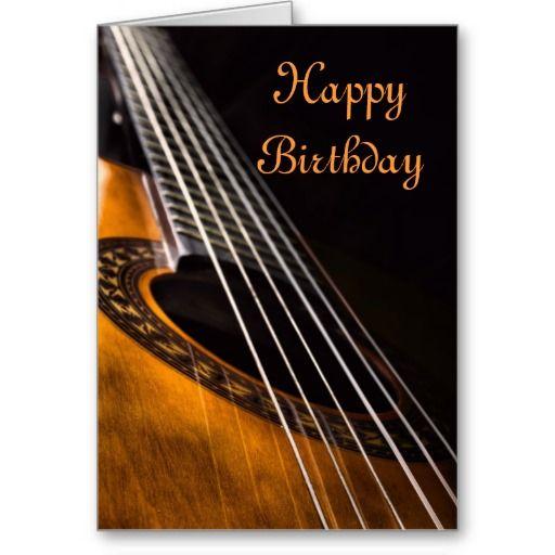 Guitar Birthday Card Happy Birthday Man Happy Birthday Happy Birthday Guitar