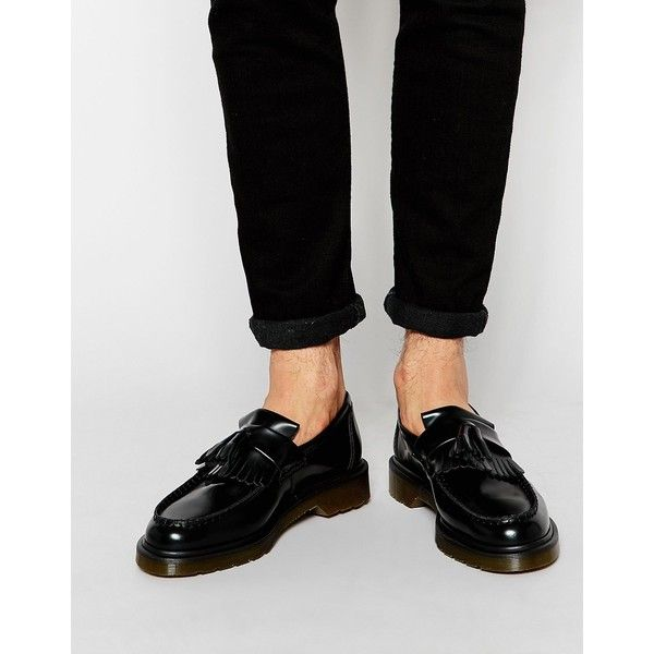 Men Dr Martens Adrian Tassle Shoes Black