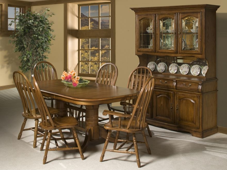 Country Style Dining Room With Cappuccino Finish China Cabinet Hutch Amish American Windsor ChairsFloating Wide Laminate Flooring And 10 Designs