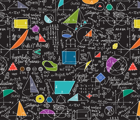 colorful fabrics digitally printed by spoonflower math count on it math wallpaper math design prints math wallpaper math design